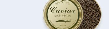 Coquilles St. Jacques au caviar AMUR, IMPERIAL